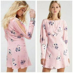 Free People Rosebud Sunshadows Pink floral dress 8